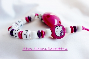 Schnullerkette Hello Kitty Pink